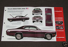 1971 PLYMOUTH DUSTER 340 Muscle Car SPEC SHEET BROCHURE PHOTO BOOKLET