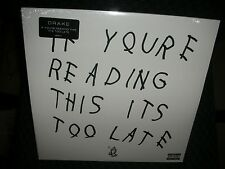 DRAKE **If You're Reading This It's Too Late **BRAND NEW DOUBLE RECORD LP VINYL