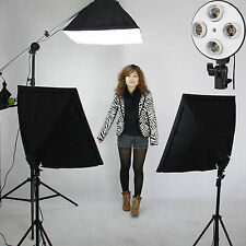 "Pro PHOTO STUDIO SOFTBOX 20""x 28"" Video Continuous LIGHTING Boom Stand Kit NEW"