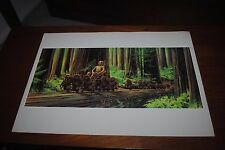 Star Wars Return of the Jedi McQuarrie #11 Concept Art 1983 C-3PO Ewok Ewoks God