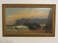 Late19th Century Original Oil Painting On Board 'Seascape' Signed, By A. Cookson