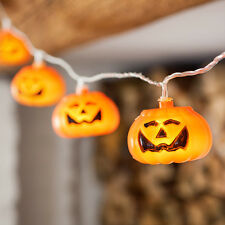 15 LED Halloween Orange Pumpkin Indoor Fairy String Lights Party Decoration