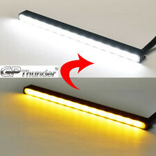 Switchback Slim Aluminum LED DRL Day Time Running Light fog Lamp White Amber