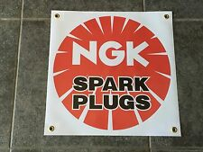 NGK Spark Plugs banner sign shop garage racing performance JDM tuning ignition