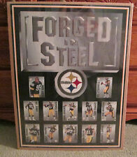 RARE PITTSBURGH STEELERS 1995 POSTER FORGED IN STEEL WOODSON LLOYD