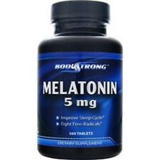 Bodystrong Melatonin 5 mg 360 Tablets Sleep Improve MadeinUSA Free Shipping
