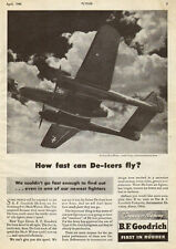 1945 WW2 AD BF Goodrich War Production De-Icers Northrop P61 Black Widow  011516