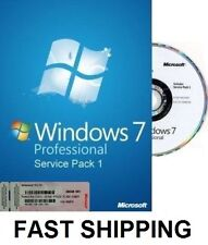 Microsoft Windows 7 Professional PRO - 64 Bit Full Version & Upgrade SP1 NEW!