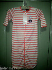 New Girl 1 12 - 18 M Pretty Mouse Applique Coral Orange Striped Sleeping bag