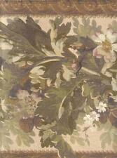 Wallpaper Border LARGE Arts and Crafts Architectural Floral Leaf Garland