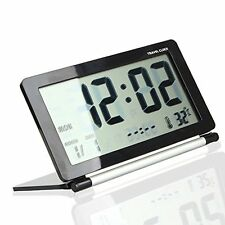 USA Multifunction Silent LCD Screen Digital Travel Desk Electronic Alarm Clock