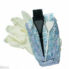 DIANE 4-PIECE HIGHLIGHTING KIT BLEACH DYE TINTING CAP TINT BRUSH GLOVES SPATULA