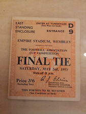 1953 FA Cup Final Ticket Blackpool v Bolton Wanderers (original)