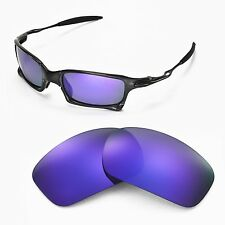 oakley 4 1 squared replacement lenses uux1  New Walleva Polarized Purple Replacement Lenses For Oakley X-Squared  Sunglasses