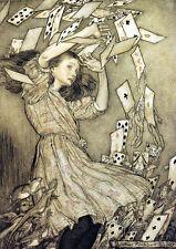 Arthur RACKHAM-Alice e il pacco di carte - 24' Canvas