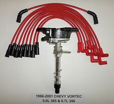 CHEVY VORTEC 1996-2001 5.7L/350 5.0L/305 Distributor & RED Spark Plug Wires USA