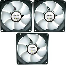 3 x GELID Solutions Silent 8 80mm Case Fans 1600 RPM, 20.7 CFM, 18.0 dBA