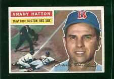 """1956 Topps #26    Grady Hatton    Red Sox   """"clean white back""""    LOOK"""