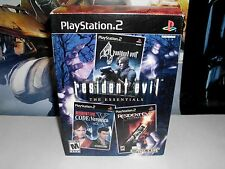 Resident Evil: The Essentials (Sony PlayStation 2, 2007) Complete Set! Capcom!