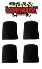 4 x Black plastic Wheel tyre valve dust caps BEST OFFER OF 79p ACCEPTED !!!