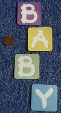 'BABY' letter building block cut outs - crafts, cards, scrapbook, baby shower