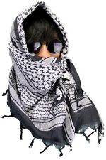 NEW Military Shemagh Lightweight Arab Tactical Desert Keffiyeh Scarf Black