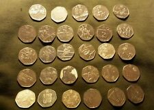 FULL/COMPLETE 2012 LONDON OLYMPIC 50p COIN SET ,ALL 29 COINS