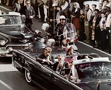 JOHN KENNEDY JFK & JACKIE ASSASSINATION RARE MOTOCADE PRESIDENT 8x10 COLOR PHOTO