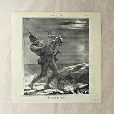 Lithographie, A l'instar de Pantin, Actualités LD 3740, H. Daumier, 1869
