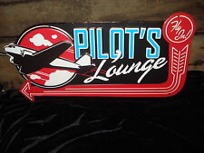 NEW PILOTS LOUNGE METAL DECOR* airplane flight fly plane arrow airport wings