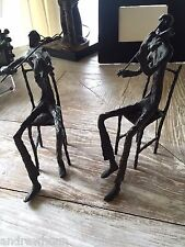 "Korean top Artist Burn Kim's Original master pieces ""Two Violinists""  Heavy Iron"