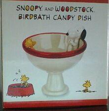 Peanuts Snoopy & Woodstock Birdbath Candy Dish Mint Condition RARE