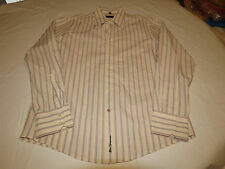 Ben Sherman Mens long sleeve button up dress casual striped shirt L GUC @