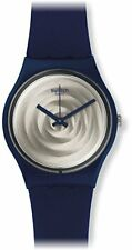Swatch Unisex Brossing Analog Quartz Blue Plastic/Silicone Watch GN244