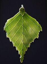 1 extra large feuille vert inhabituelle émail charme pendentif 72mm double face (tsc114)