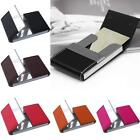 Business Waterproof ID Credit Card Wallet Holder PU Aluminum Pocket Case Box
