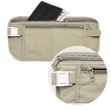Travel Pouch Hidden Passport ID Holder Compact Security Money Waist Belt Bag