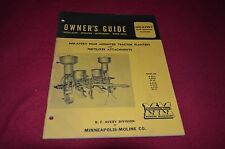 Minneapolis Moline Avery Rear Mounted Trac Planter Operator's Manual MISC1 Ver2