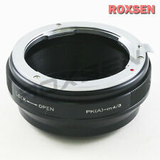 Pentax K mount PK DA AF lens to Olympus Panasonic Micro 4/3 Adapter E-P5 OM-D G7