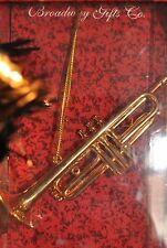 BRASS TRUMPET CHRISTMAS ORNAMENT