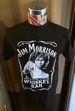 NEW JIM MORRISON SHOW ME THE WAY DOORS WHISKEY BAR ~ BLACK T SHIRT ~ LARGE