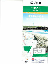 Gosford 9131-2-S 1:25,000 LPI topographic map new, free  priority post Austral
