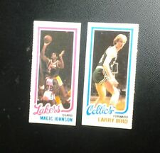 Topps 1980-81 Complete Set of 264 singles Basketball Cards Bird (R), Johnson (R)