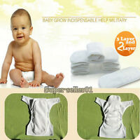 New Hot Baby Washable Cloth Diaper Nappies Inserts Microfiber And nano Inserts