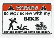 combo of 12 different Funny warning decals for bikes & cars