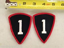 LOT OF 2 U.S ARMY 1st Personnel Command patches Red & Black One 1 Percent 1%