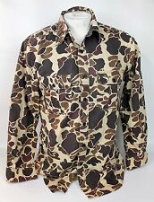 Vintage Winchester Cotton Blend Camo Camouflage Button Front Hunting Shirt Sz M