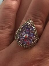 Ring Rare Tanzanite GreenTsavorites  Size9 R 2.12 Ct RRP $1270 valuation Price R