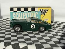 SCALEXTRIC ASTON MARTIN DB4 G.T C68 GREEN 60'S #3 1:32 USED BOXED