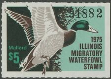 1975 Illinois State Duck Stamp Mint Never Hinged VF